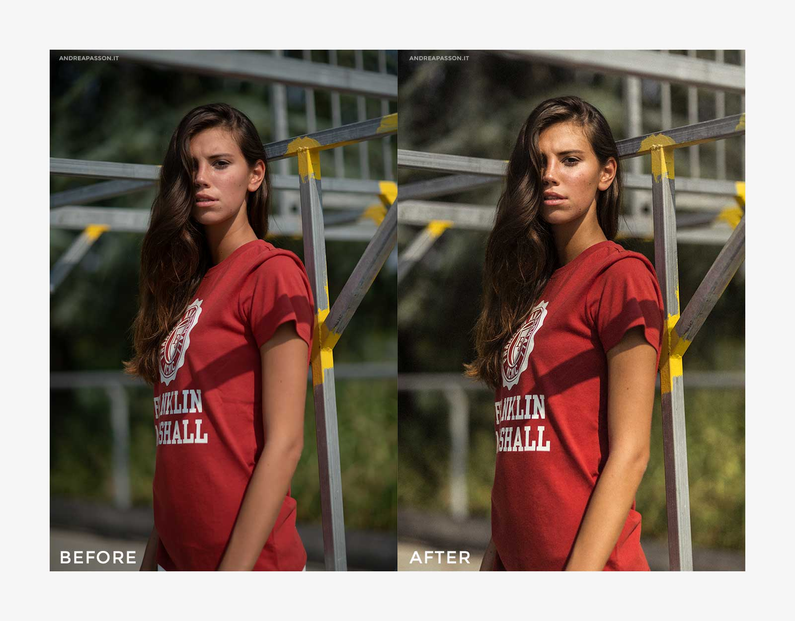 Before & After - Post Produzione Fotografica Professionale a Treviso - Franklin & Marshall