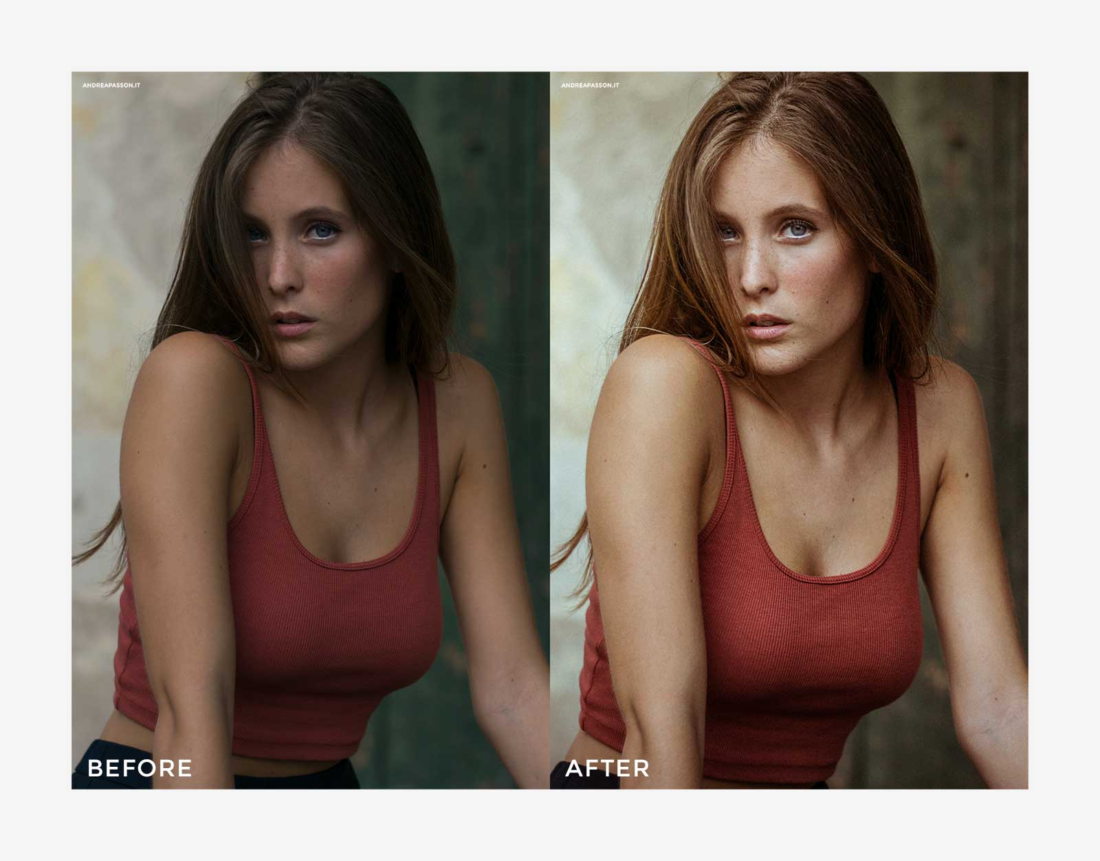 Before & After - Post Produzione Fotografica Professionale a Treviso - Glamour Photography